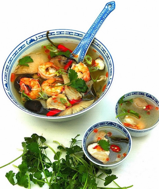 Prawn Tom Yum soup is the most popular