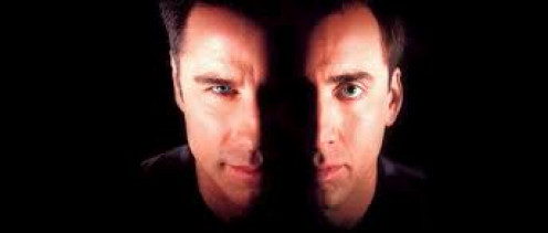John Travolta and Nick Cage star in the action thriller Face Off.