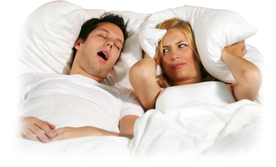 Snoring and sleep apnoea snorts can drive your partner mad.