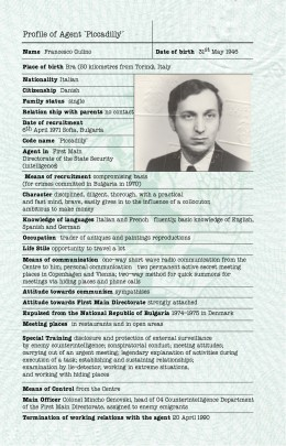 "Profile of Francesco Gulino aka Agent ""Piccadilly"""