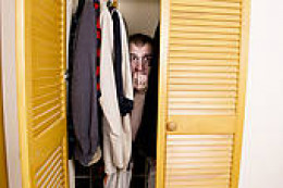 the uncomfortable and cramped lifestyle of living in a closet