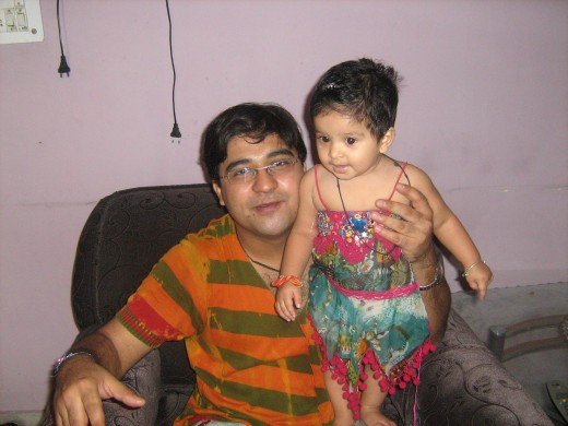 "Me with my daughter, ""Shronika"""