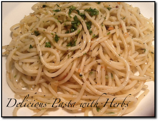 A Herb Infused Pasta