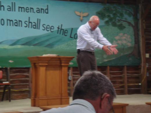 Evangelist Tom Palmer Preaching at TGAF II