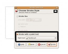 This shows the Stroke Selection Dialog