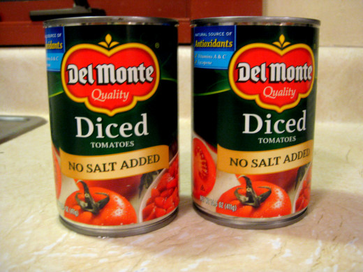 DICED TOMATOES NO SALT