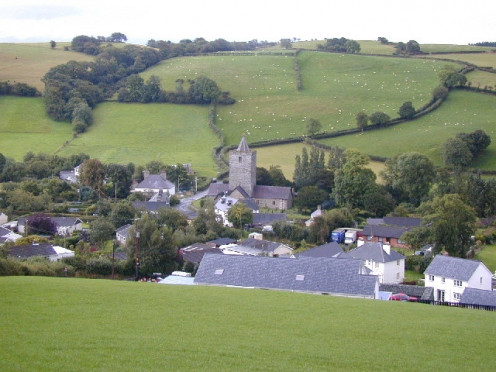 Llanfihangel y Creuddyn, a Thankful Village, Viewed from the north.