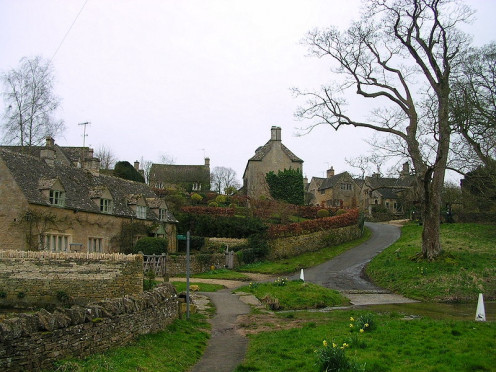 Upper Slaughter, Gloucestershire, England. A Doubly Thankful Village.