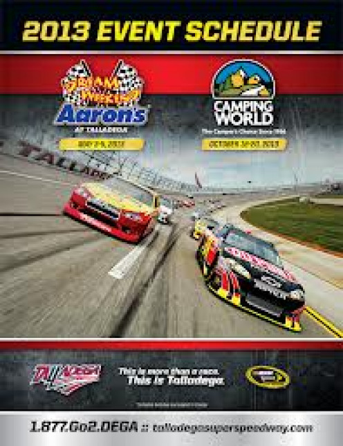 Every patron of the super speedway gets a program schedule for the days events. It is an all day and night party for everyone involved.