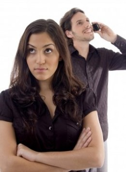 A woman will not like it when her man keeps in touch with his ex.