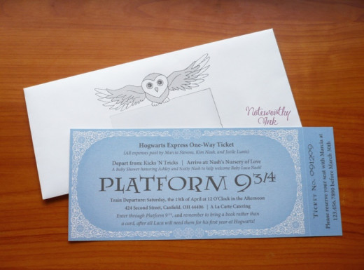 Harry Potter Baby Shower Invites