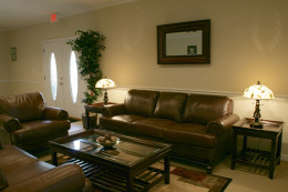 It is easy to get dust and dirt off of leather couches!