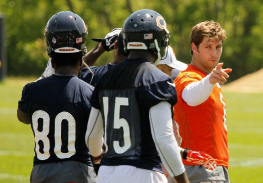Jay Cutler at practice