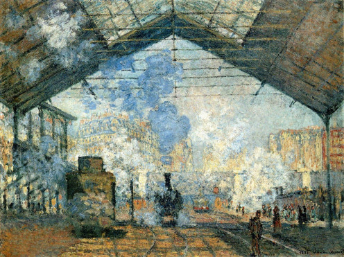 'La Gare Saint-Lazare' by Claude Monet, 1877