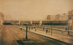 The 'Pont de l'Europe' seen from Saint-Lazare Station, circa 1868