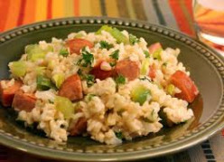 Dirty Rice Recipe Made with Turkey Sausage