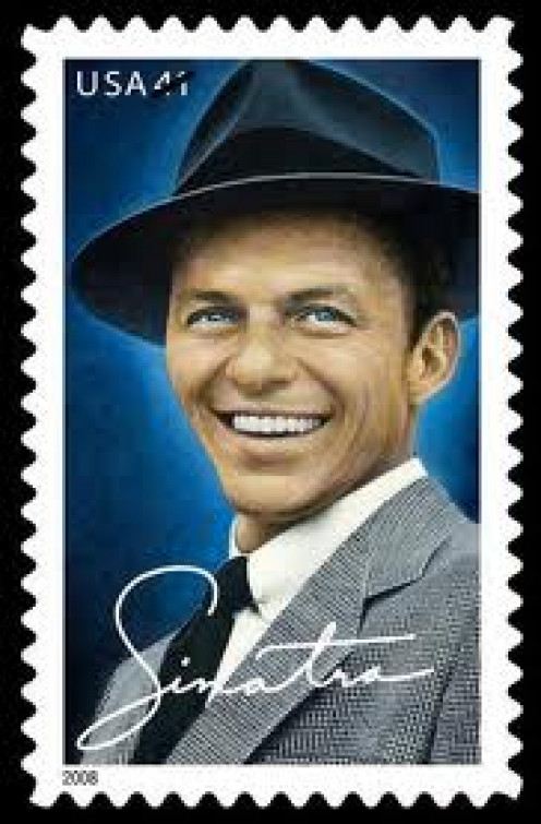 Frank Sinatra had a stamp made for him which shows you how famous and loved he was and, in fact, still is