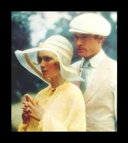 Redford and Farrow as Gatsby and Daisy