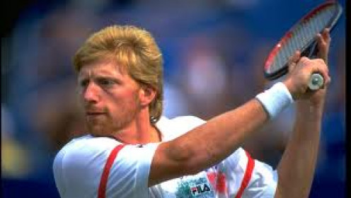Boris Becker, at 17 years old, became the youngest man to win Wimbledon. He never faded during tennis matches  and he could run the court.
