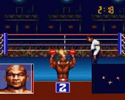 George Foreman's KO Boxing had a career mode and a create your own character mode as  well. You can play as Big George or fight him for the world title.