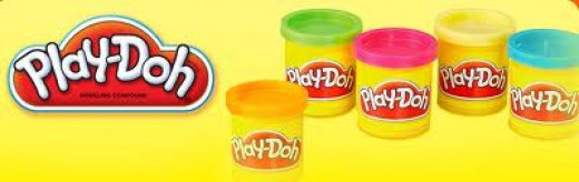 Play Doh is colored putty that can be molded into different shapes. It comes in different colors and in different amounts.