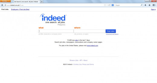Indeed.com is a search engine for job listings.