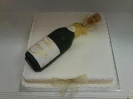 Champagne Bottle as Grooms' Cake
