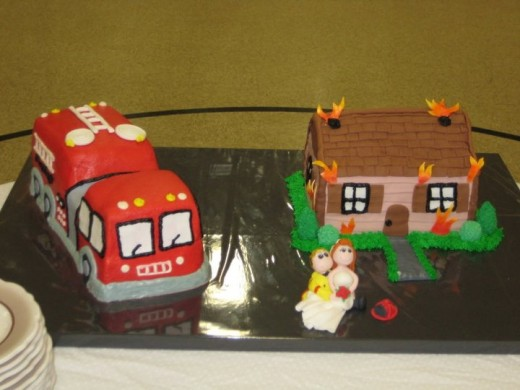 Fire Fighter Themed Grooms' Cake