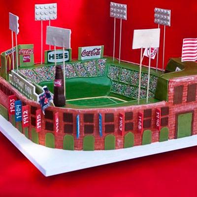 Football Stadium Themed Grooms' Cake