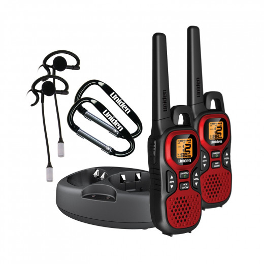 Uniden GMR 3040-2CKHS 30 Mile 22 Channel FRS/GMRS Two-Way Radios with Charging Kit