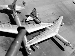 Two B-36's damaged by the Sept. 1, 1952 tornado at Carswell AFB, Tx