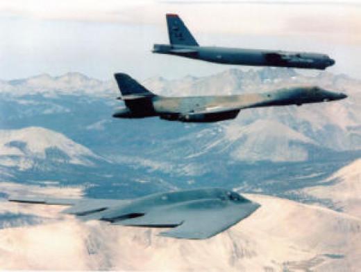 Today's bomber triad: The B-52, B-1B, B-2