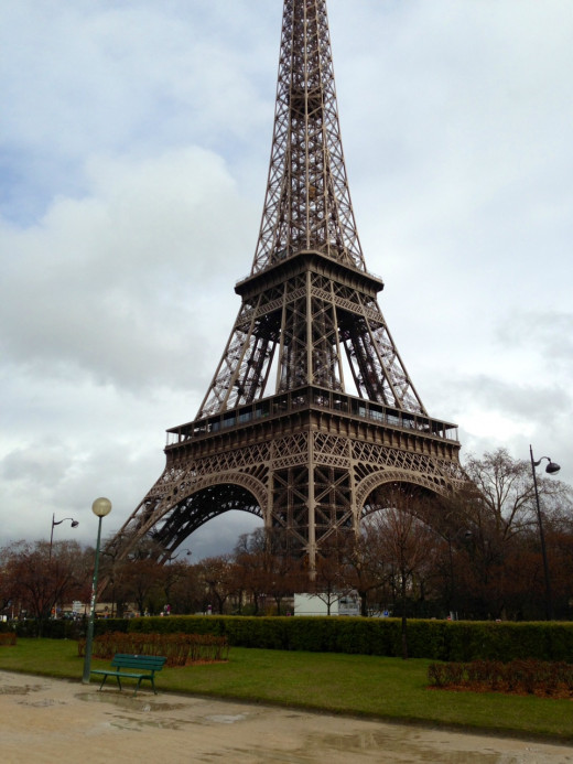 Eiffel Tower on a rainy day in April  Copyright REK