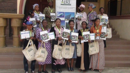 DevA women at the ATRE sponsored solar business training facilitated by DevA