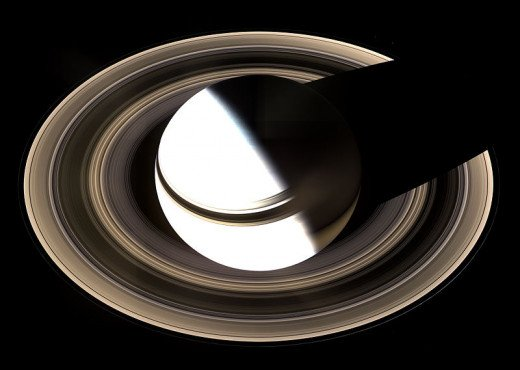 This was taken by the Cassini spacecraft