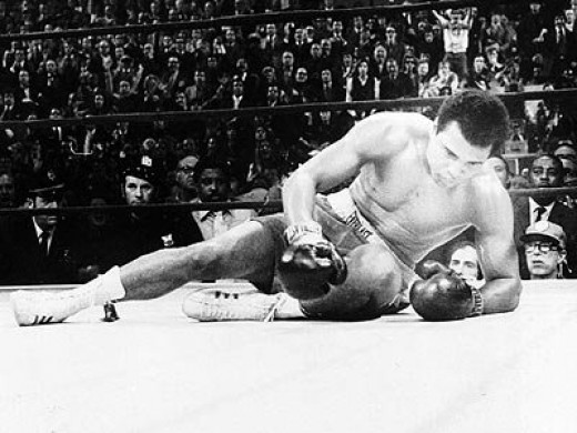Ali knocked down in first fight