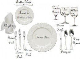 A formal place setting can easily be taught