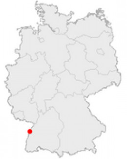 Map location of Kehl, Germany