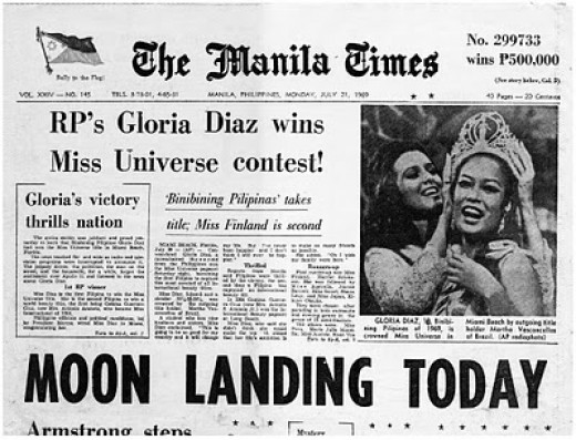The Miss Universe question was so relevant to the upcoming news the next day-July 21, 1969.