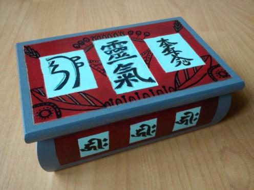 My censer for incenses with Reiki symbols.
