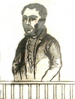 William Lightfoot, hanged for muder at Bodmin Jail in 1840.