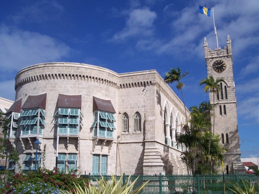 Parliament Buildings in Bridgetown, Barbados