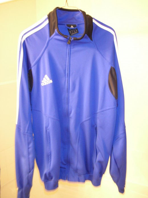 Addidas soccer warm-up top.