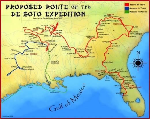 De Soto's exploration of North America