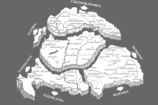 Map to represent land lost by the Treaty of Trianon
