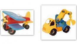 Take-A-Part Vehicle Building Toy Set Bundle