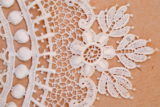 Textures in cotton and lace