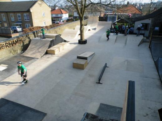 Outside area at Skaterham.