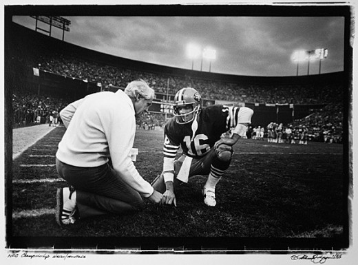 Bill Walsh and Joe Montana