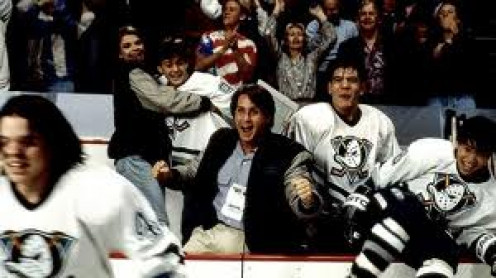 Emilio Estevez plays in Mighty Ducks which also has a sequel. This was a very motivational movie.
